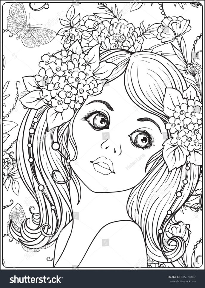 687x967 Coloring 91 Phenomenal Flower Girl Coloring Book Flower Girl