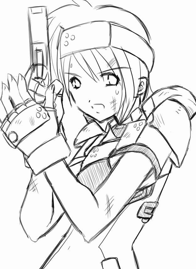 625x856 Girl With A Gun By Rpgkid
