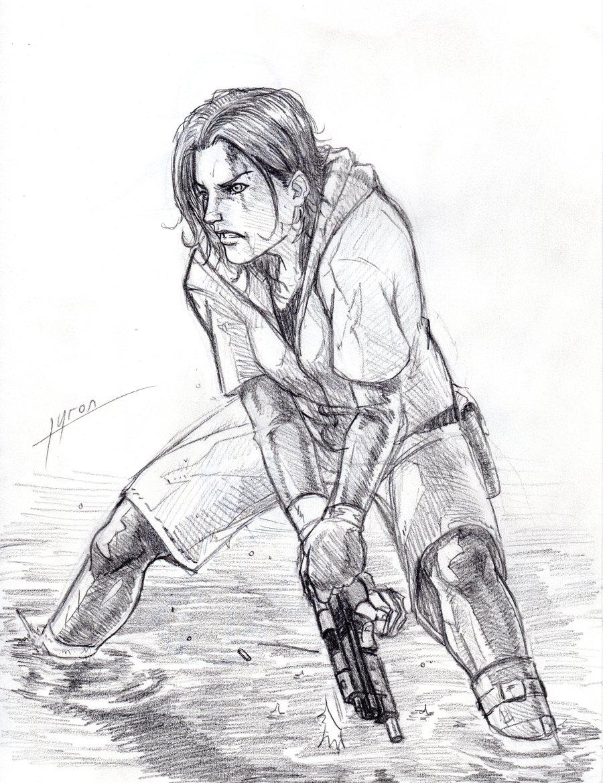 900x1170 Girl With Gun By Tyron Ichigo