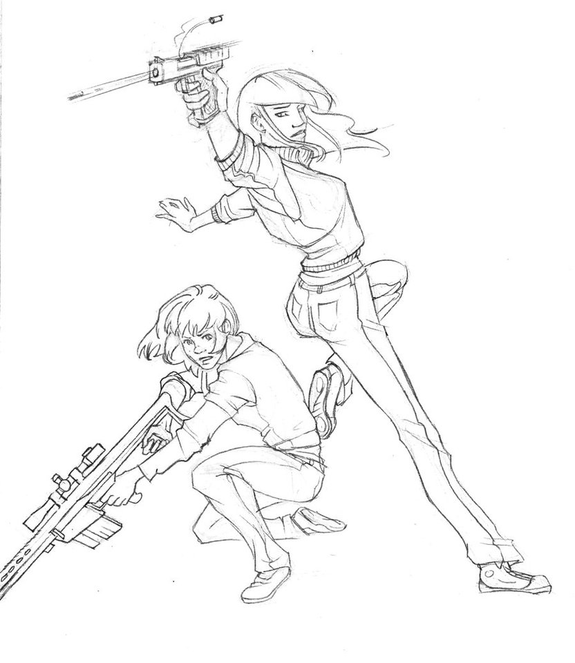 832x960 Gun Girls
