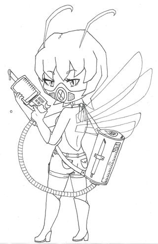 320x496 My New Oc, Agana. Shes A Mosquito Girl Who Has A Blood Gun Thing