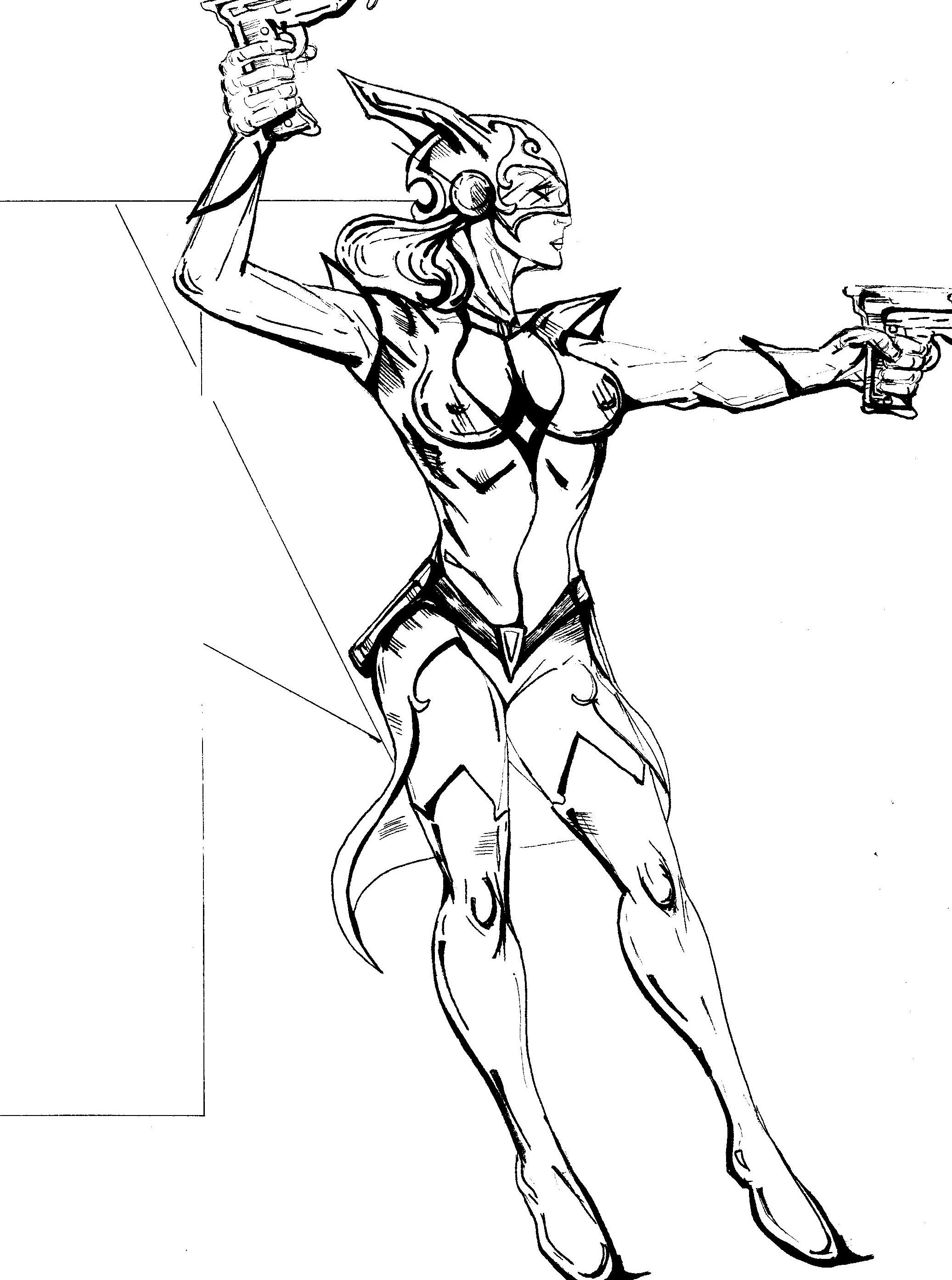 2073x2786 Ray Gun Girl
