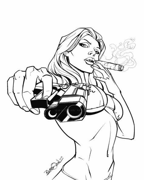 474x592 Girl With Gun Drawing Tumblr