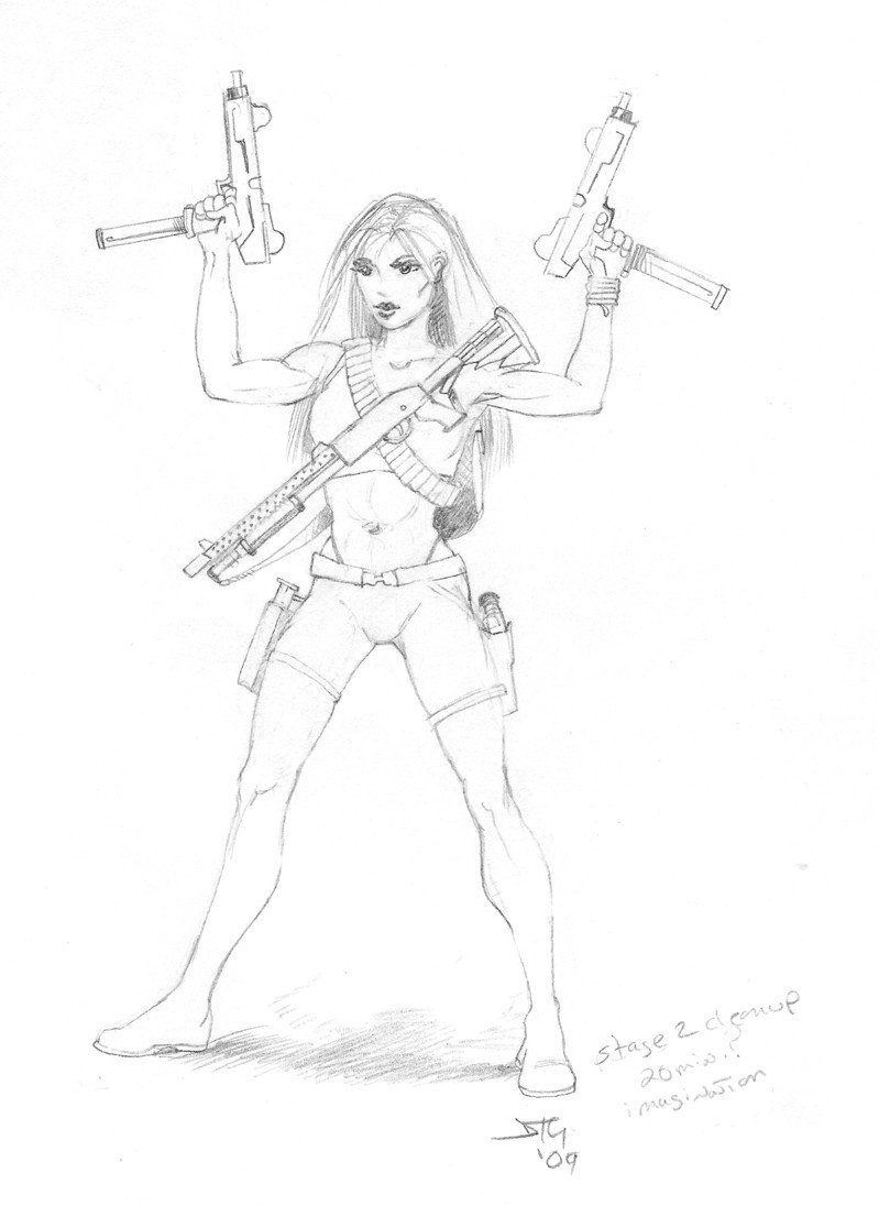 799x1096 Gun Girl By Dtg57