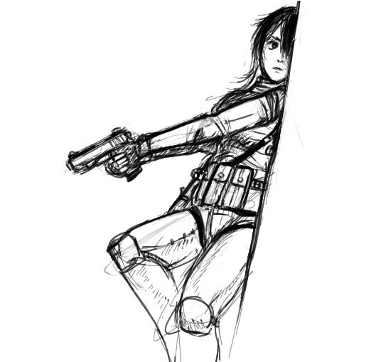 536x509 Girl With A Gun By Johanz