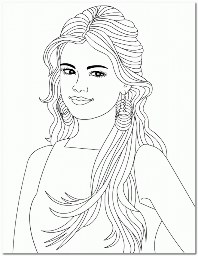Girl With Long Hair Drawing at GetDrawings | Free download