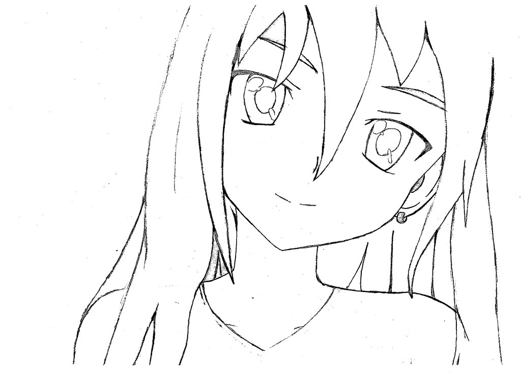 girl with long hair drawing at getdrawings com free for personal