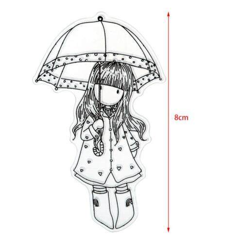 465x488 Online Shop Girls Girl With Umbrella Clear Silicone Stampseal