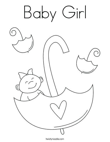 468x605 Boy And Girl Coloring Page Baby Girl With Umbrella Coloring Page