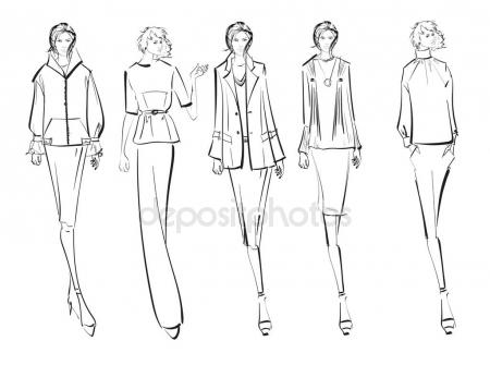 450x335 Drawing Lesson Female Body Stock Vector Blackspring1