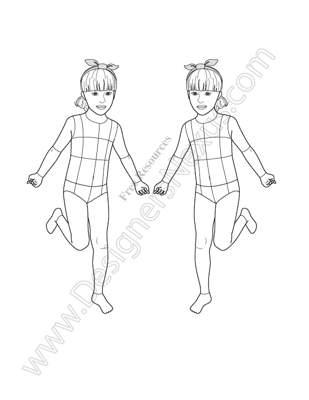 612x792 Free Fashion Croquis Fashion Figure Templates