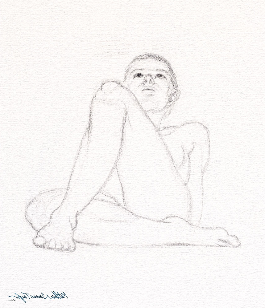 859x1000 Girl Body Drawings In Pencil Girl With Folded Legs Looking Up