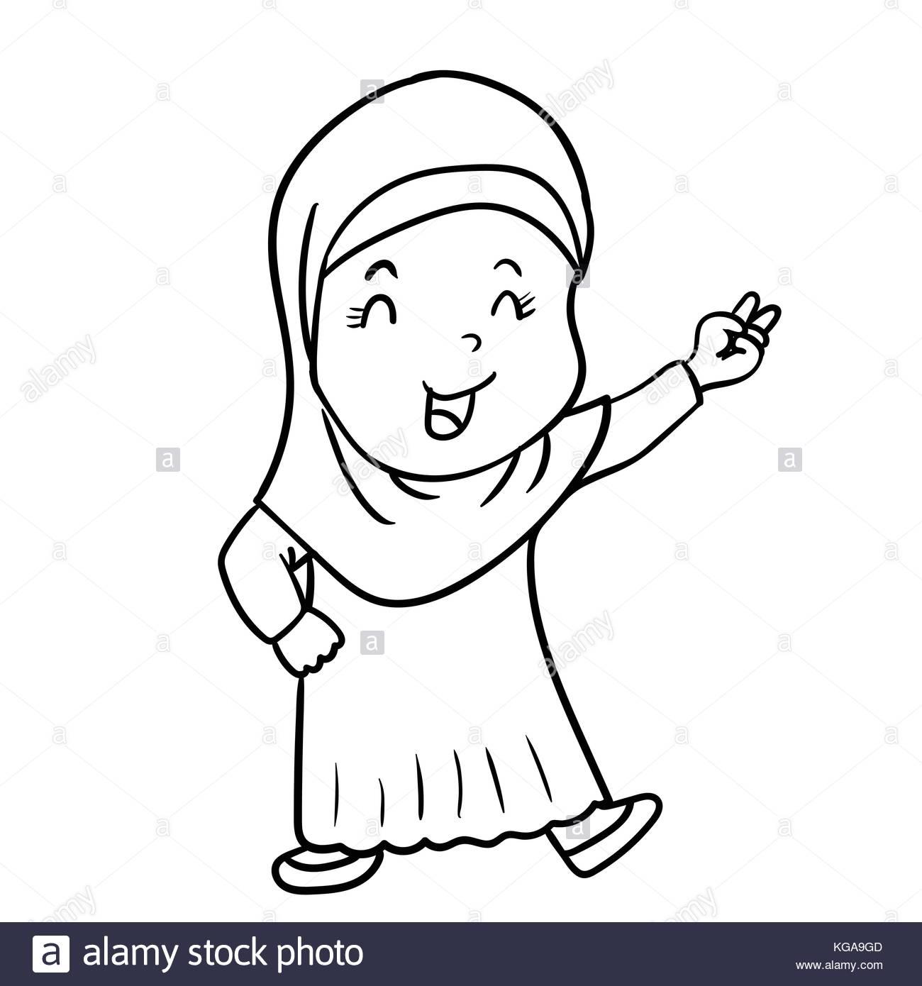 1300x1390 Cartoon Girl Hijab Stock Photos Amp Cartoon Girl Hijab Stock Images