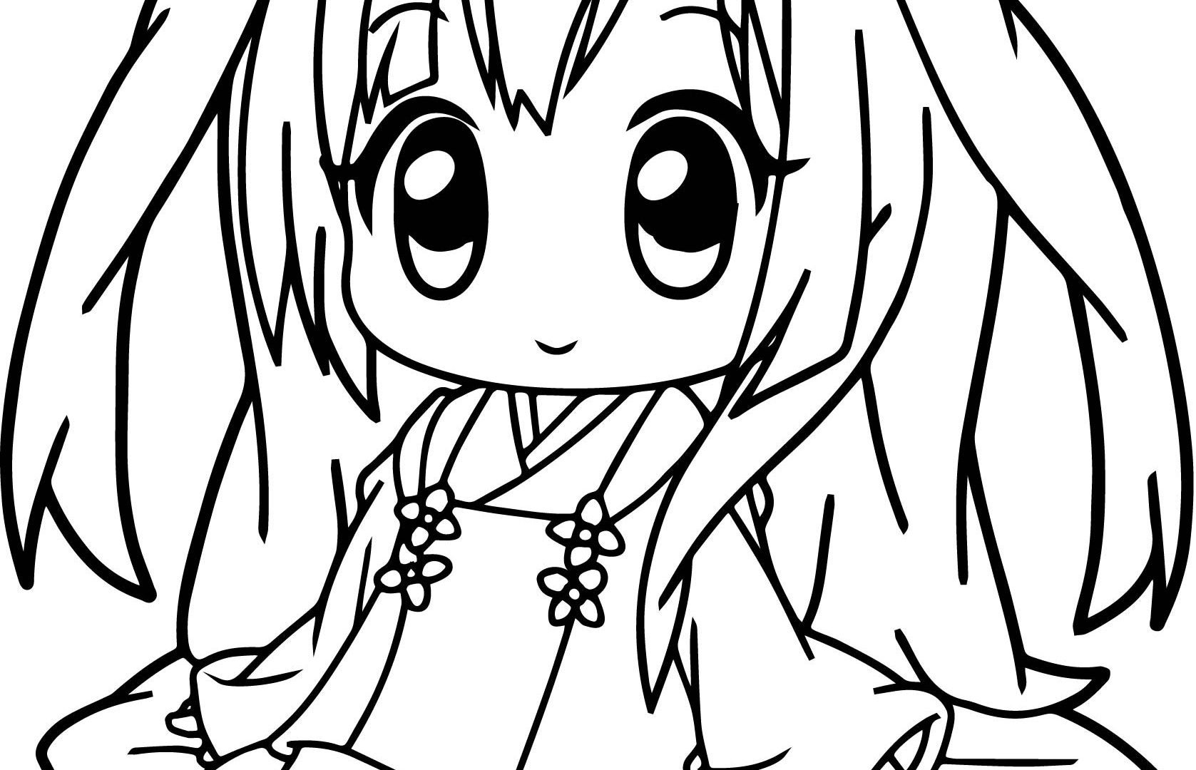 1677x1080 Simple By Anime Girl Coloring Pages On With Hd Free Printable