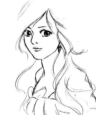 394x470 Best Of Girl Cartoon Drawings Cute Girls With Curly Hair