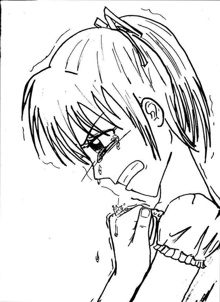 762x1048 Crying Girl By Hana Loui