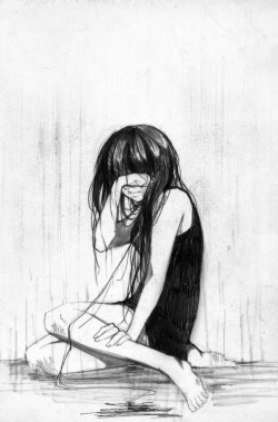 250x379 Drawing Girl Black And White Sad Manga Crying Beatricesgrave