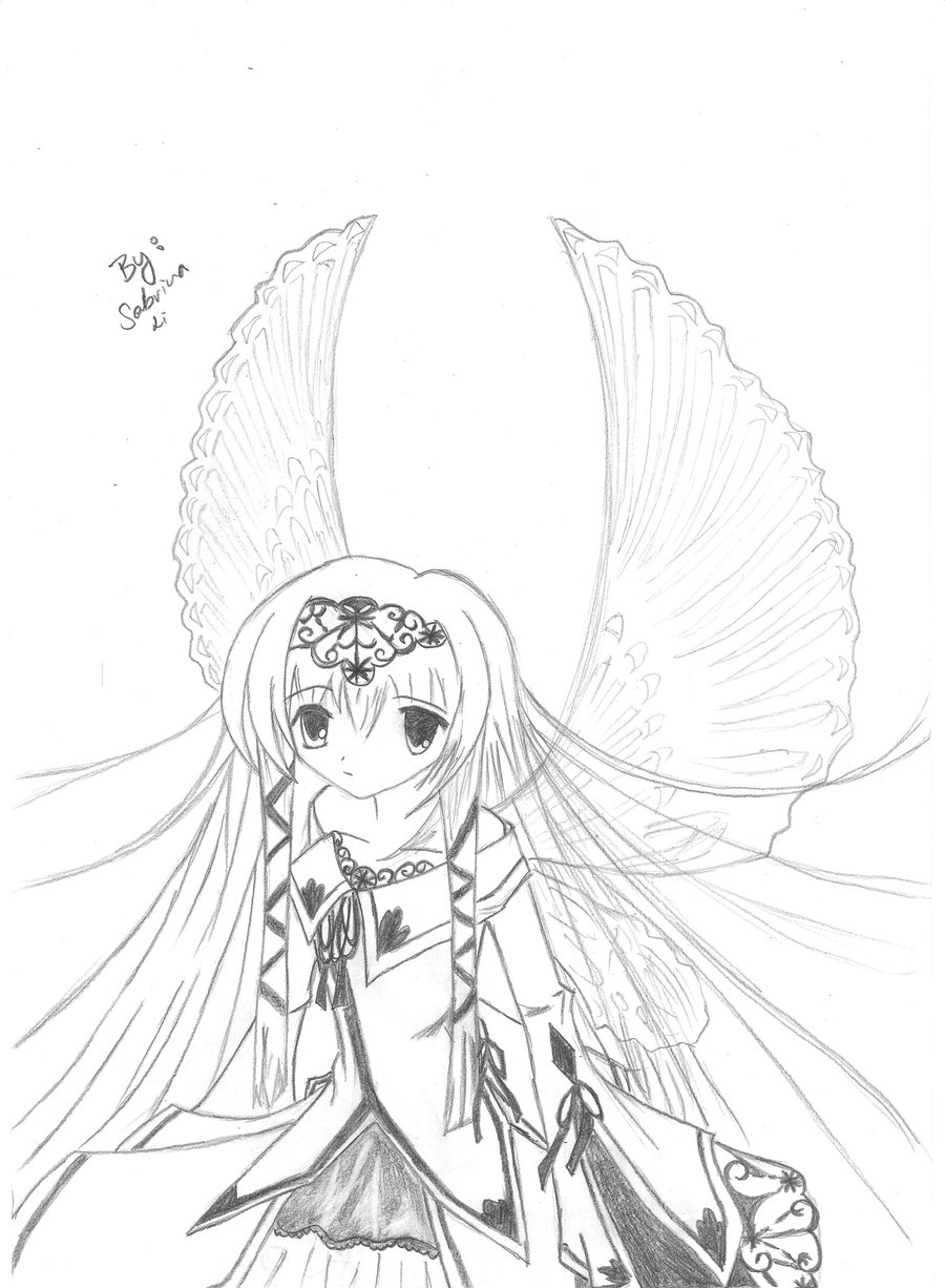 900x1226 Anime Girl Looking At A Butterfly Sketch Butterfly And Crying Girl