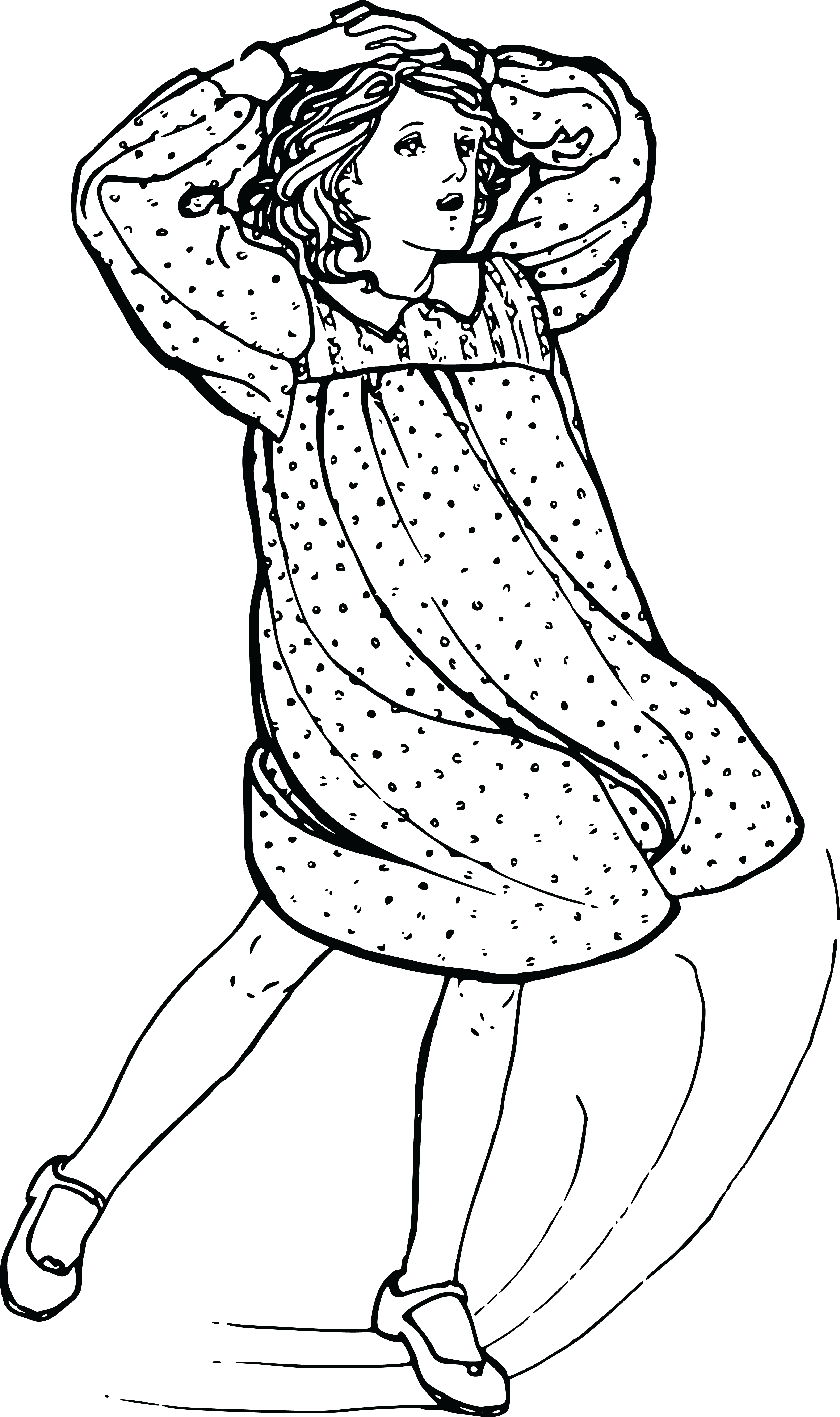 4000x6745 Free Clipart Of A Girl Dancing