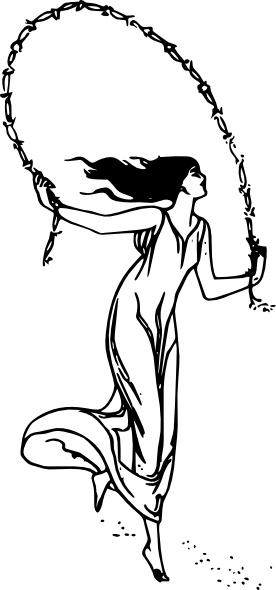 276x590 Girl Dancing Clip Art Free Vector In Open Office Drawing Svg