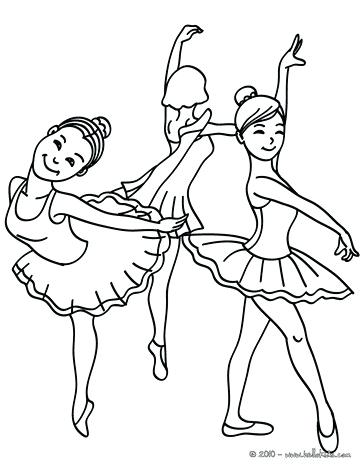 364x470 Group Of Young Ballet Dancers Coloring Page Pages Girls Dancing