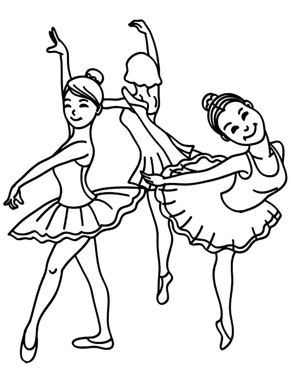 dancing girls coloring pages - photo#21