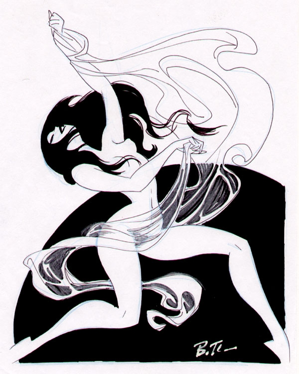 600x752 Bruce Timm Dancing Girl, In Dave Morris's Commissions Dancing