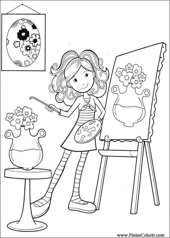 567x794 Drawings To Paint Amp Colour Groovy Girls