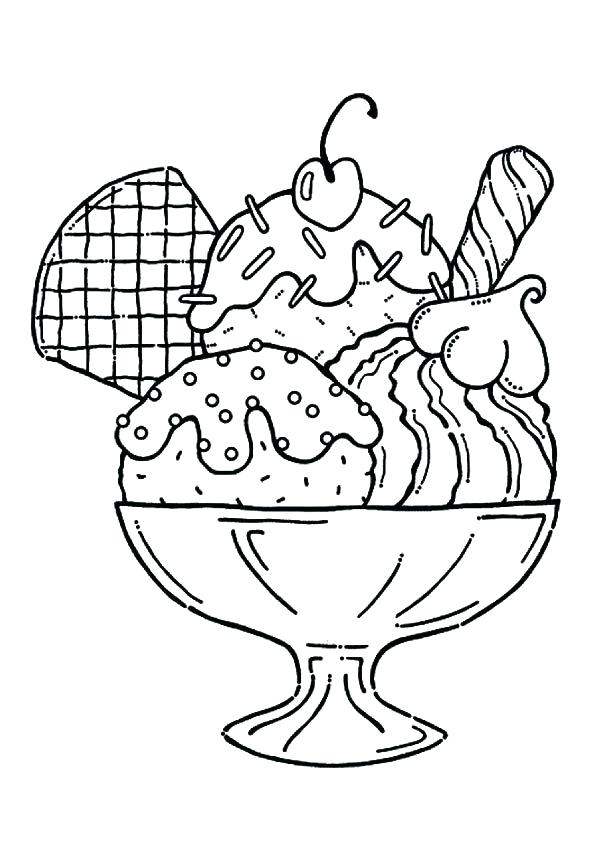595x842 Easy Coloring Pages For Girls Coloring Pages For Girls Ice Cream
