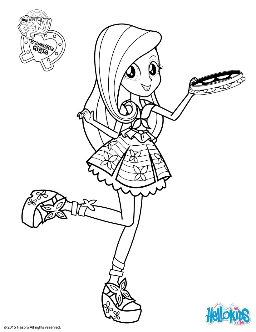 820x1060 My Little Pony Equestria Girls Coloring Pages For Pretty Draw