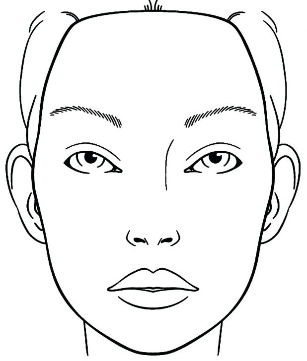 618x728 Coloring Amazing Girl Face Coloring Page. Rough Face Girl