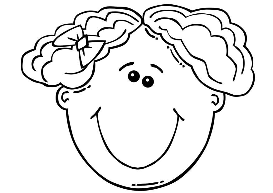 875x620 Coloring Page Girl's Face