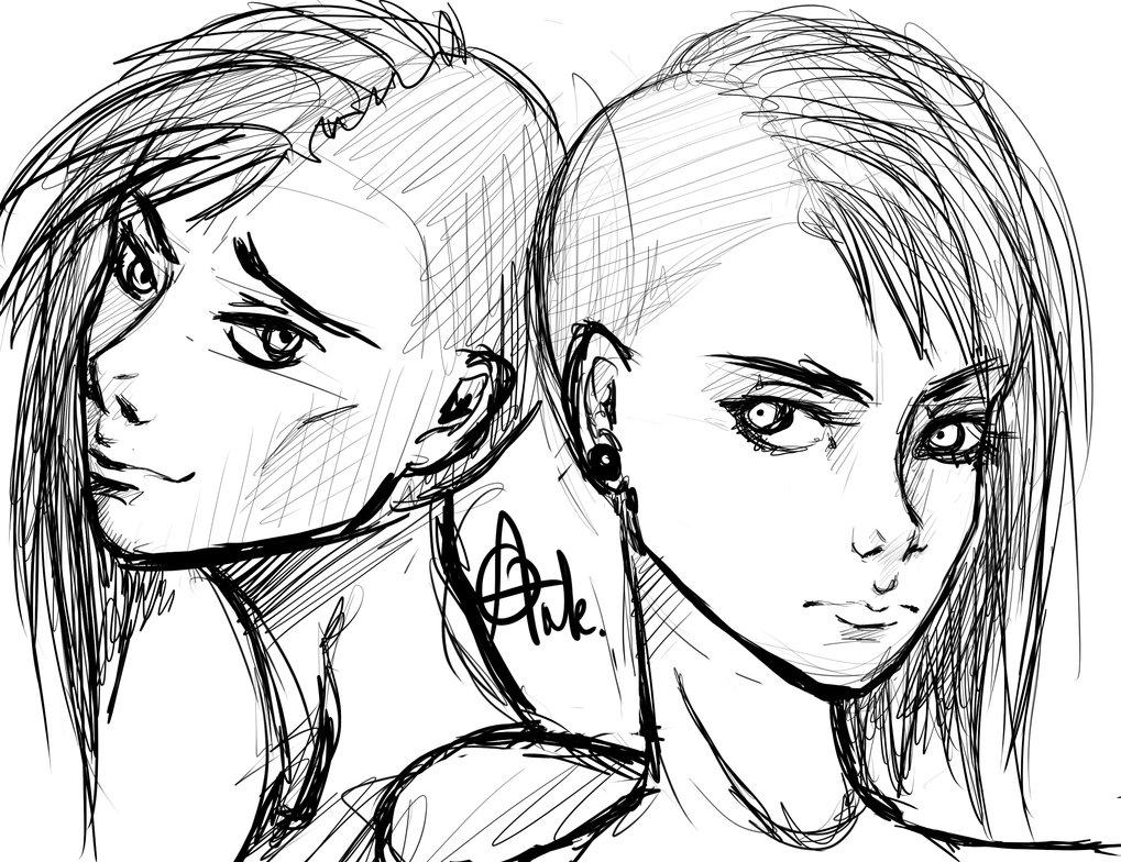 1019x784 Drawn Chick Punk