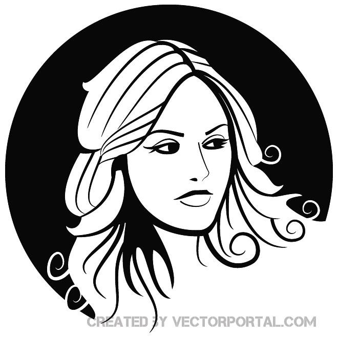 660x660 Girl Vector Sketch