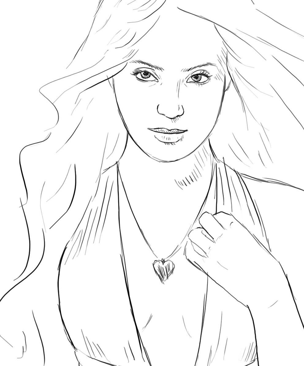 992x1193 Girl Face Body Drawing