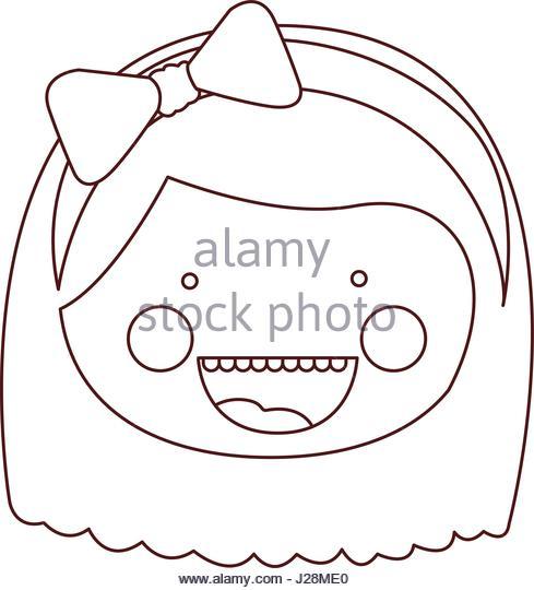 489x540 Girl Face Expression Sketch Stock Photos Amp Girl Face Expression