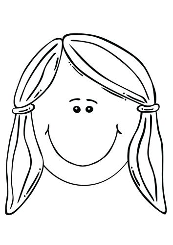 354x500 Head Coloring Page Coloring Page Girls Face Deer Head Outline