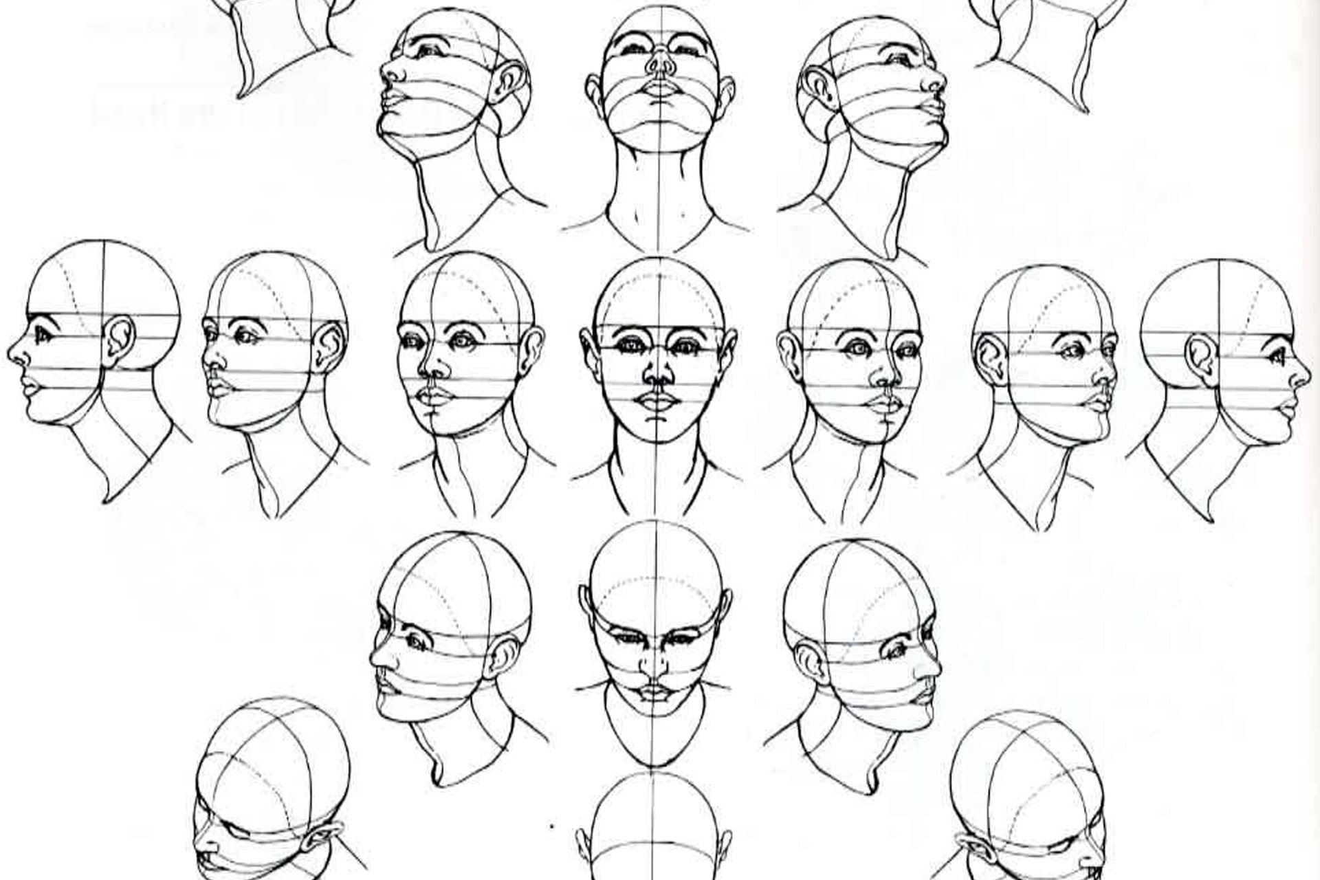 1920x1280 Basic Sketches Faces Girls Face Basic Drawing