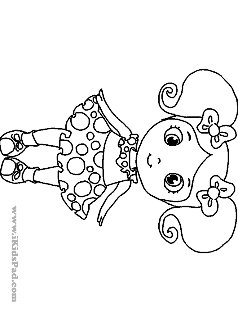 768x1024 Marisole Monday Modern Girl In Black White Paper Doll Coloring