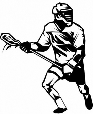 Girls Lacrosse Drawing