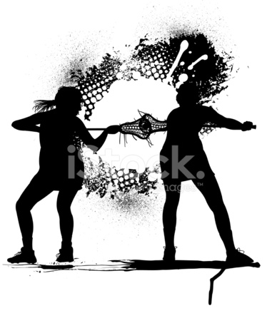 381x439 Lacrosse Face Off Girls Stock Vector