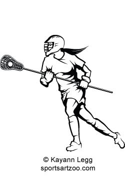 Girls Lacrosse Stick Drawing
