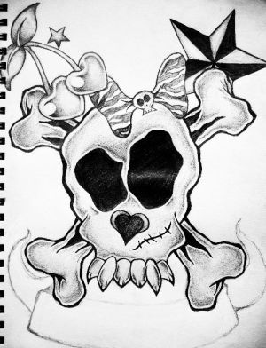 Girly Skull Drawing At Getdrawings Com Free For Personal Use Girly