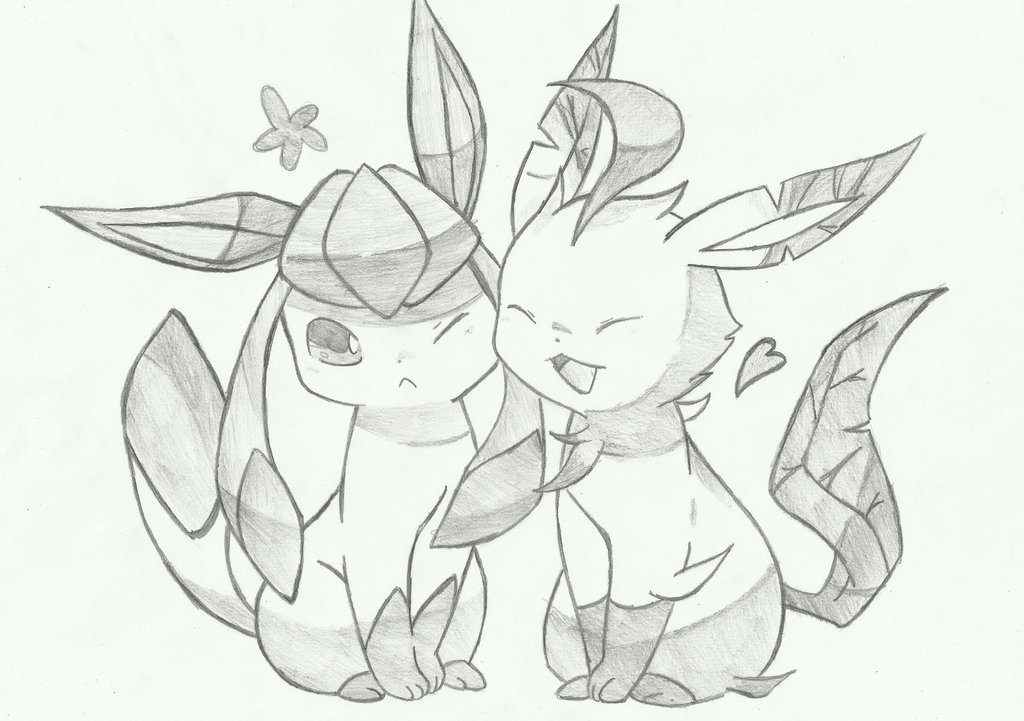1024x721 Glaceon And Leafeon By Souleater29