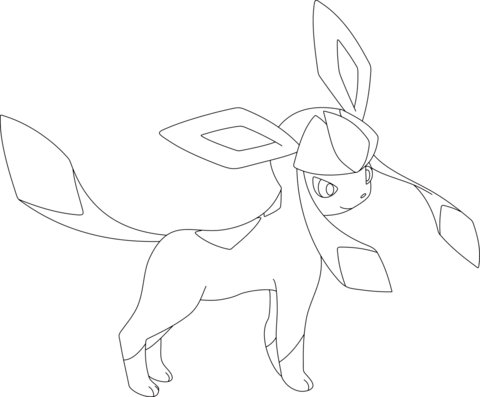 480x397 Glaceon Coloring Page From Generation Iv Pokemon Category. Select