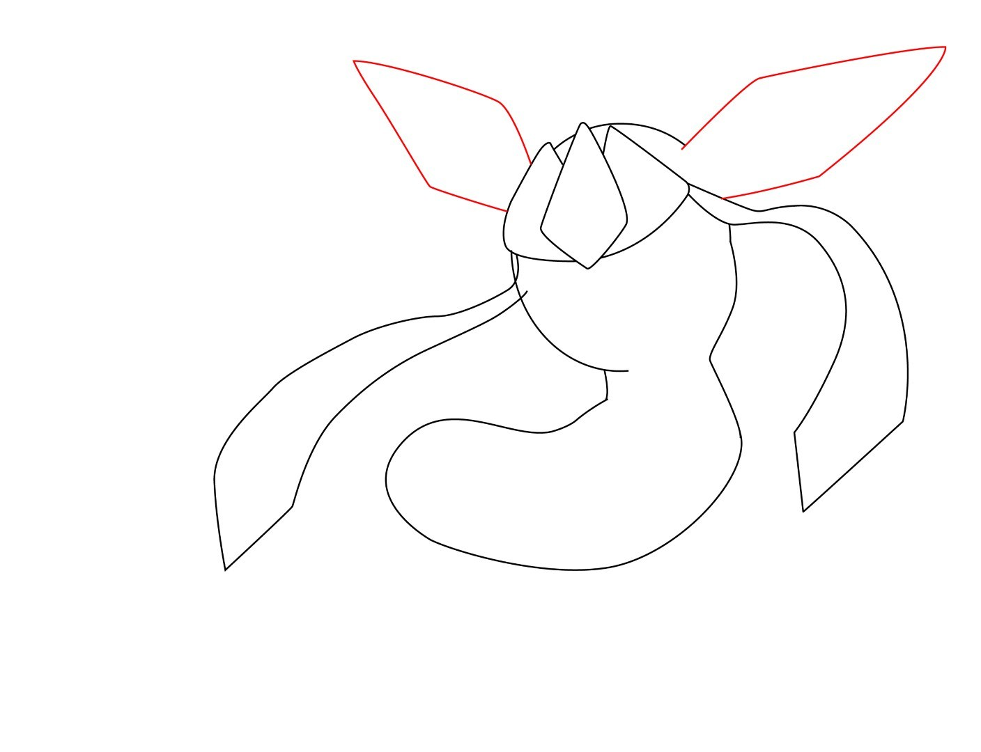 1408x1080 How To Draw Glaceon