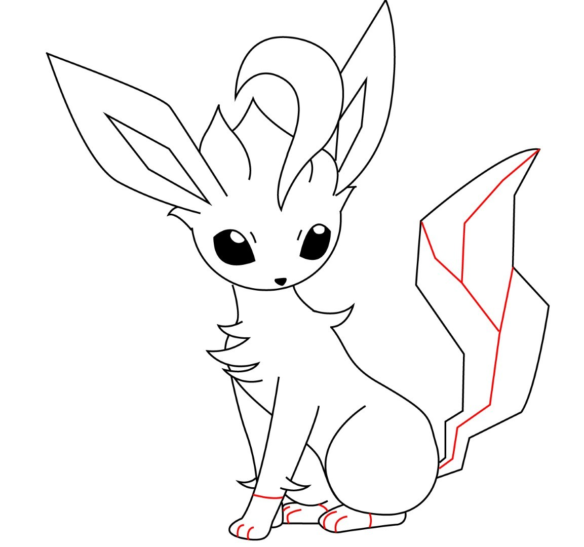 1153x1080 How To Draw Leafeon
