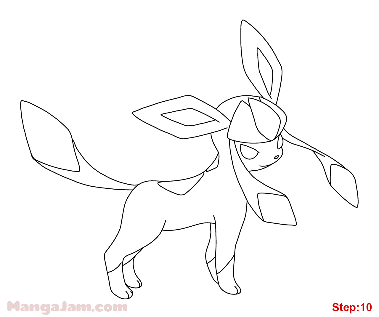 1280x1070 How To Draw Glaceon From Pokemon