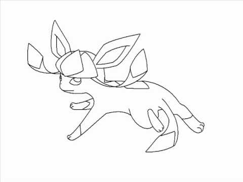 480x360 How To Draw Lineless Glaceon Using Paint (Pokemon)
