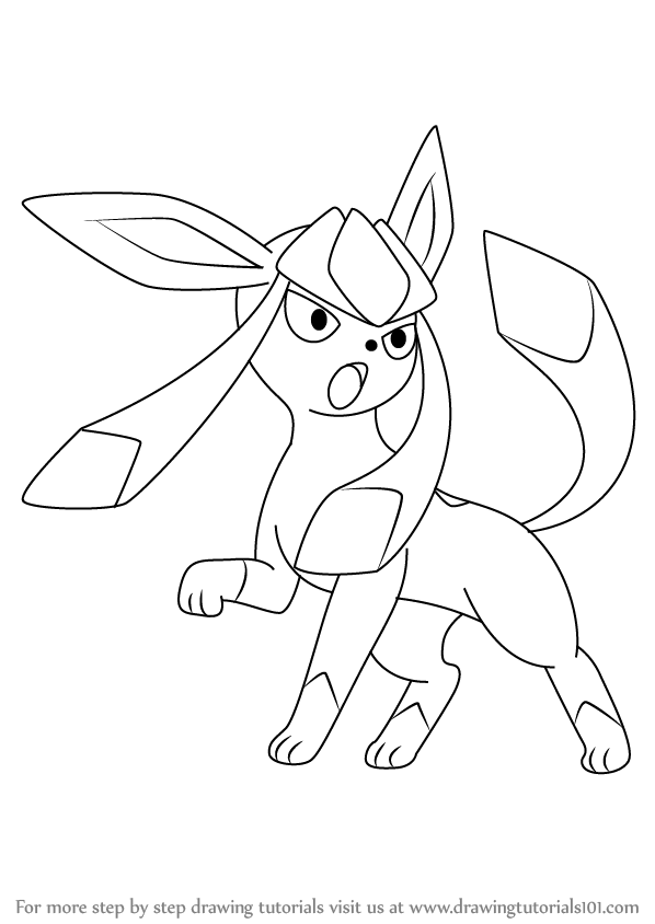 598x844 Learn How To Draw Glaceon From Pokemon (Pokemon) Step By Step